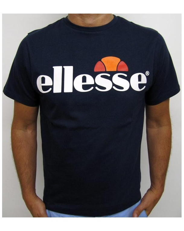 ellesse logo t shirt navy ellesse mens logo tee. Black Bedroom Furniture Sets. Home Design Ideas
