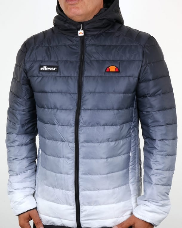 Ellesse Lombardy Bubble Fade Jacket Black/White