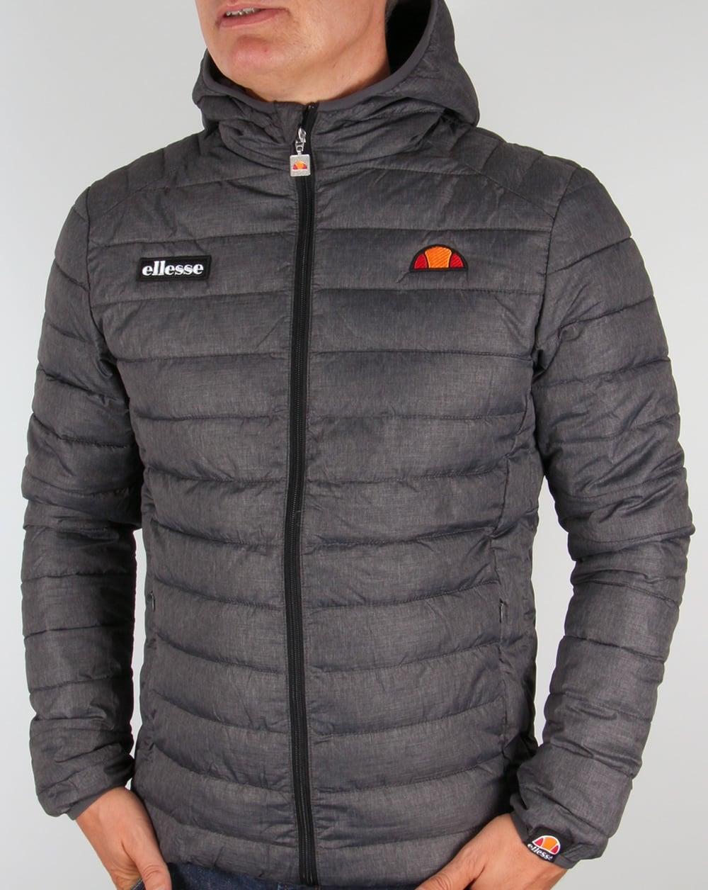 ellesse lombardy jacket grey bubble padded puffer ski coat mens. Black Bedroom Furniture Sets. Home Design Ideas