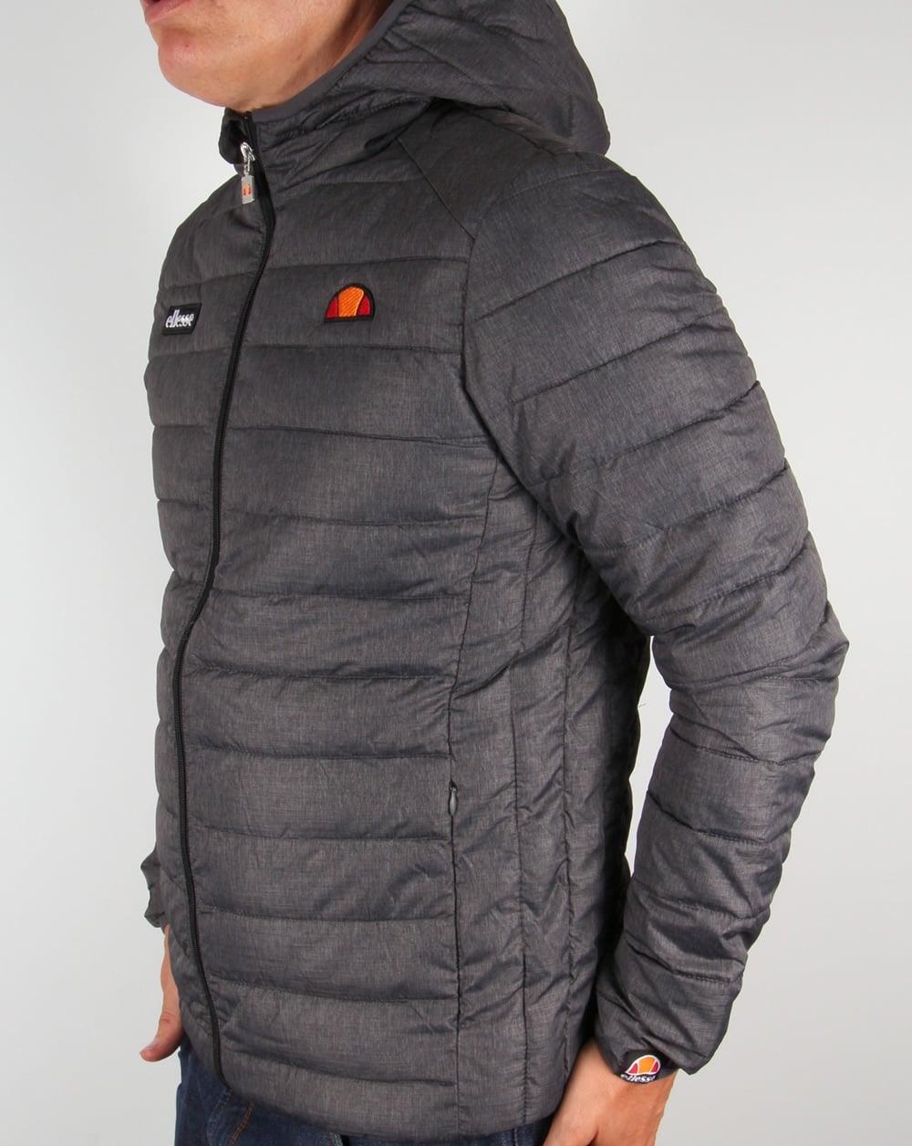 ab07b84cb0 Ellesse Lombardy Bubble Jacket Graphite Grey