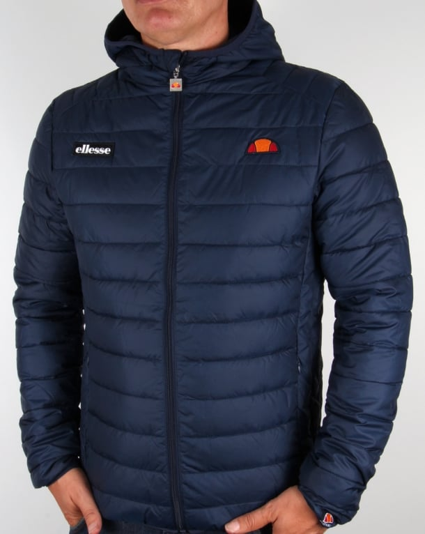 Ellesse Lombardy Bubble Jacket Navy Blue