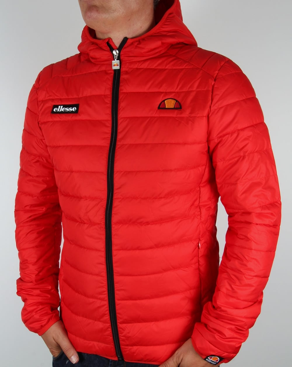 ellesse lombardy jacket red bubble padded puffer ski coat mens. Black Bedroom Furniture Sets. Home Design Ideas