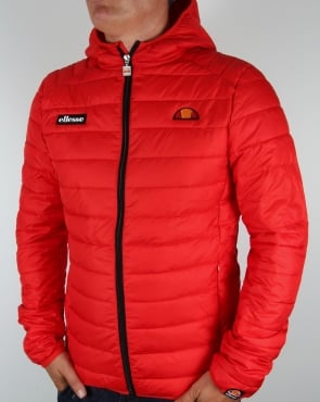 Ellesse Lombardy Bubble Jacket Red