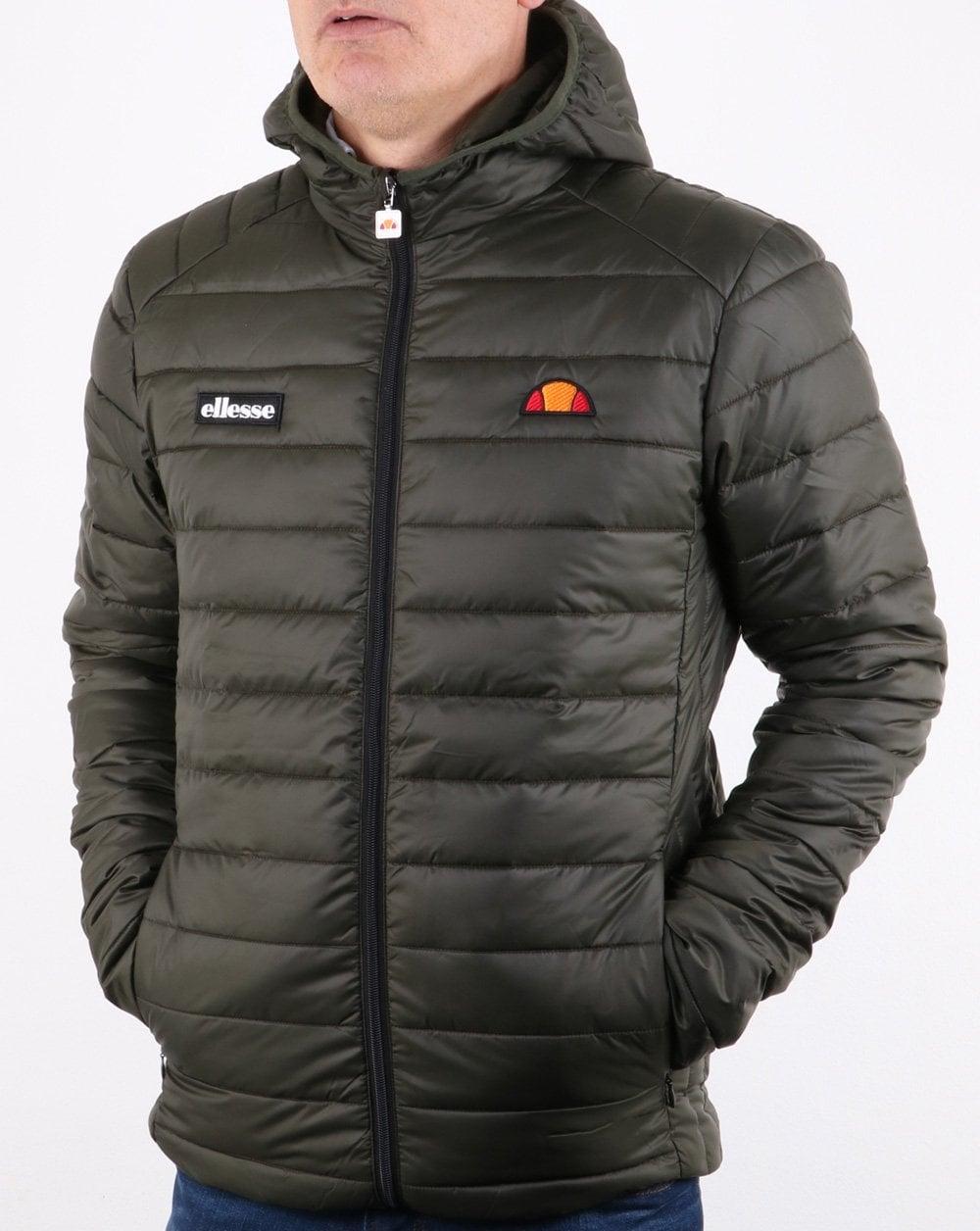 098fe70335 Ellesse Lombardy Jacket, Khaki, Green, Padded, Bubble,puffer,coat,mens