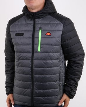 Ellesse Lombardy Two Tone Jacket Black/grey