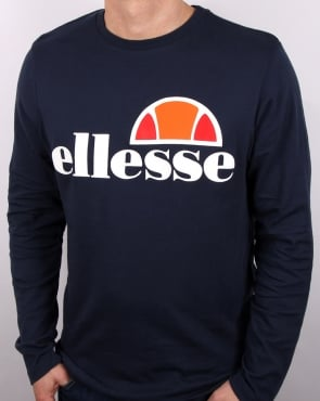 Ellesse Long Sleeve T Shirt Navy