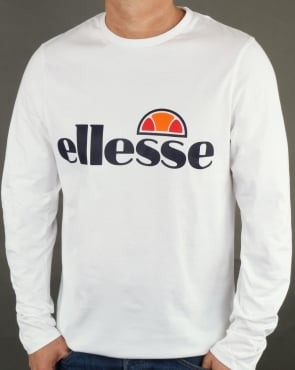 Ellesse Long Sleeve T-Shirt White