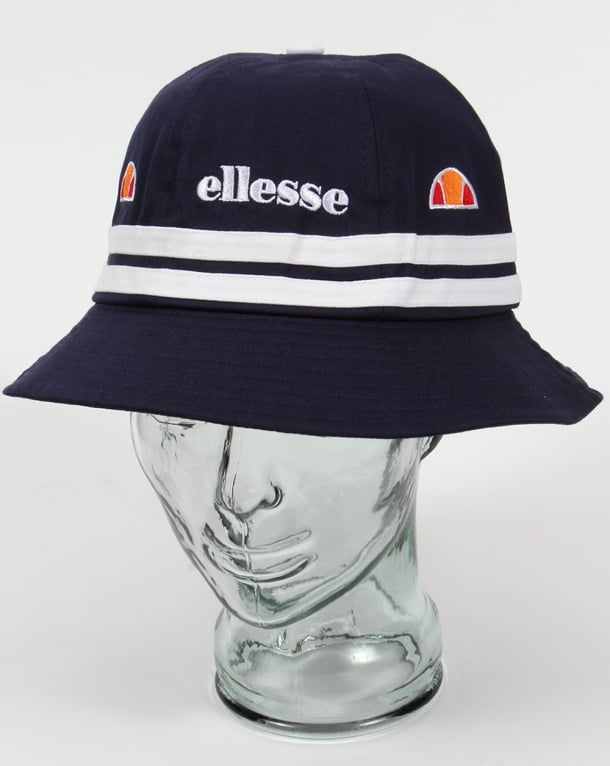 Ellesse Lorenzo Twin Stripe Bucket Hat Navy