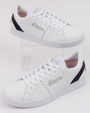 Ellesse LS-80 Leather Trainers White