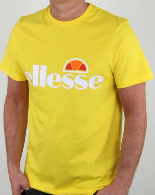 Ellesse Magliore Logo T Shirt Vibrant Yellow