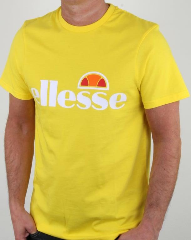 Ellesse Magliore Logo T Shirt Vibrant Yellow