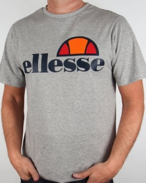 Ellesse Manarola Logo T-shirt Grey Marl