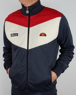 Ellesse Marl Track Top Navy Red White
