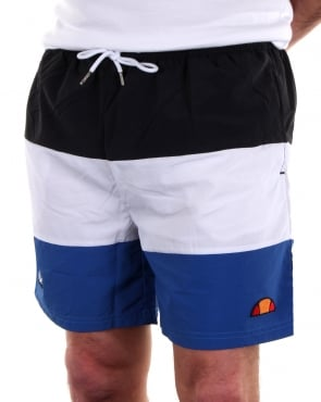 Ellesse Massaccio Swim Shorts Black/White/Royal