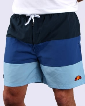 Ellesse Massaccio Swim Shorts Navy/Royal/Sky