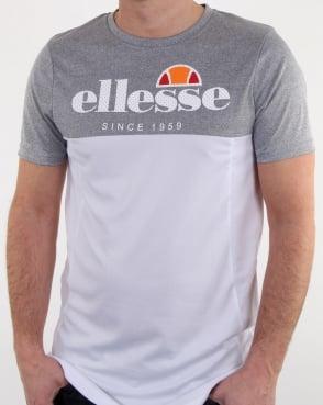 Ellesse Meda T Shirt Grey Marl/white