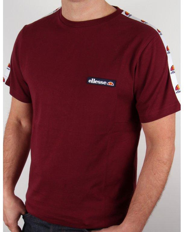 Ellesse Merlo Taping T-shirt Burgundy
