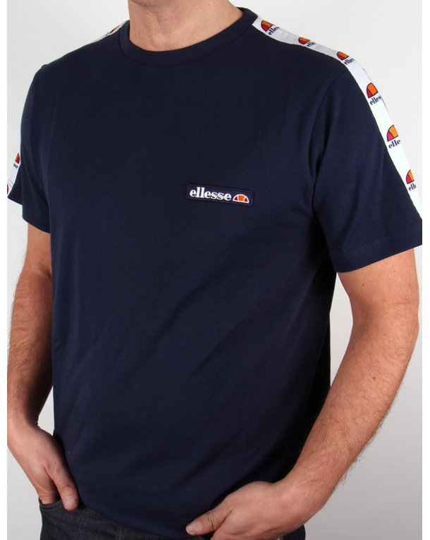 Ellesse Merlo Taping T-shirt Navy Blue