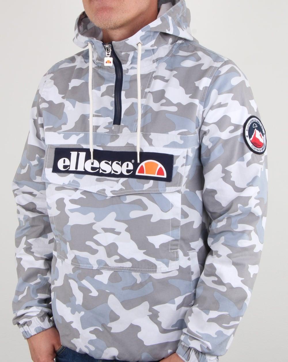 f6e085e6e0 Ellesse Mont Canvas Jacket Grey Camo