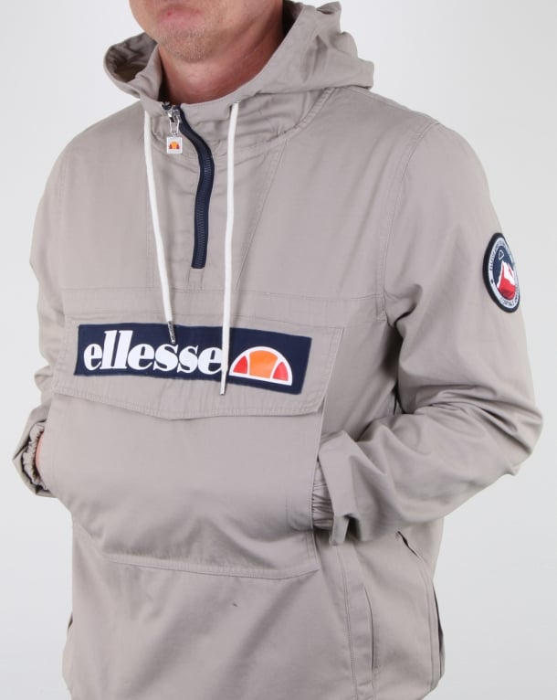 Ellesse Mont Canvas Jacket Grey Stone