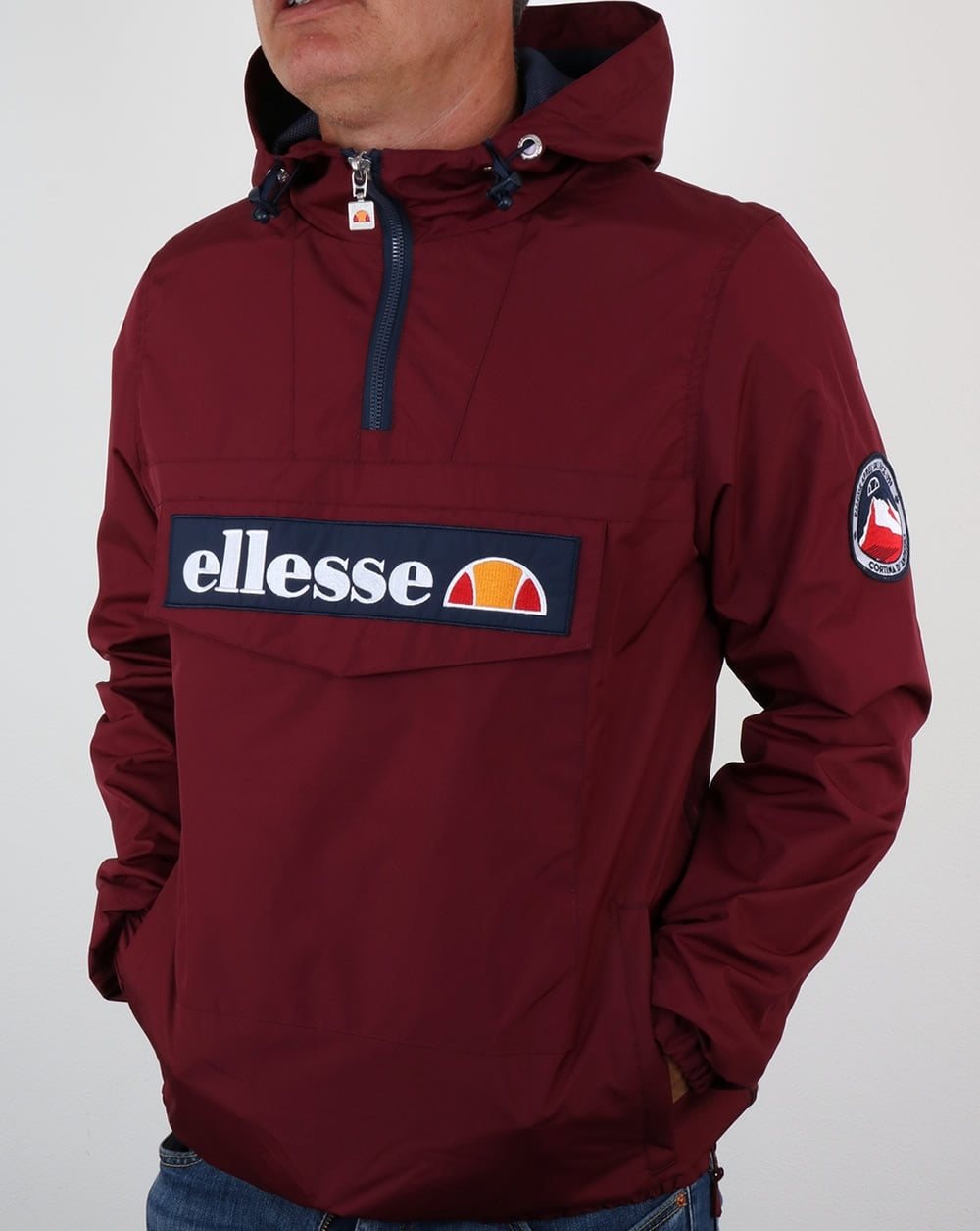 ellesse mont ii jacket burgundy smock coat overhead ski. Black Bedroom Furniture Sets. Home Design Ideas
