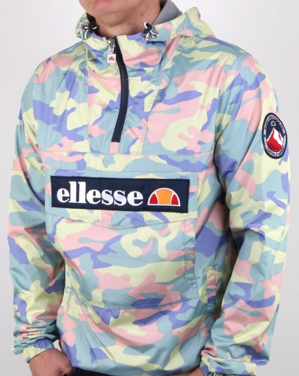 27a22ba9 Ellesse Mont Lightweight Jacket Coloured Camo