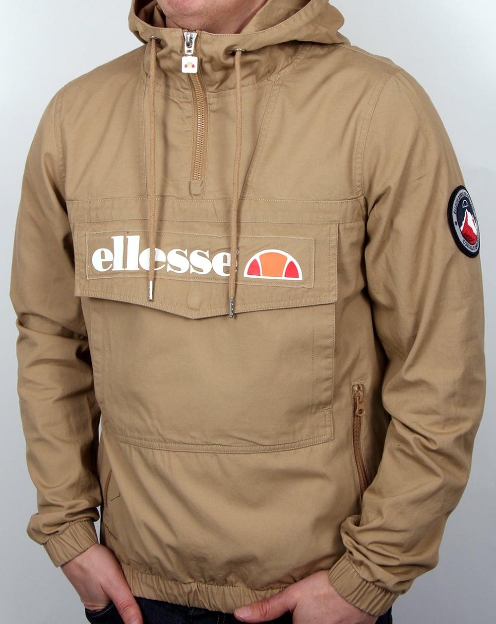 Ellesse Mont Quarter Zip Jacket Tannin,smock,coat,overhead ...