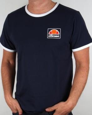 Ellesse Monte Ringer T Shirt Navy