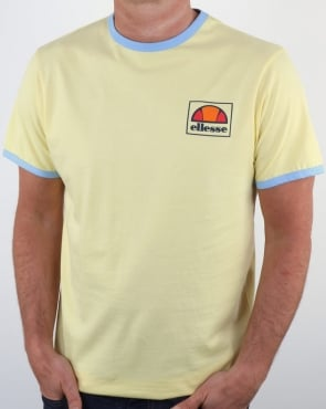 Ellesse Montefello Ringer T Shirt Lemon Yellow