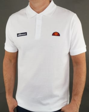 Ellesse Montura Polo Shirt White