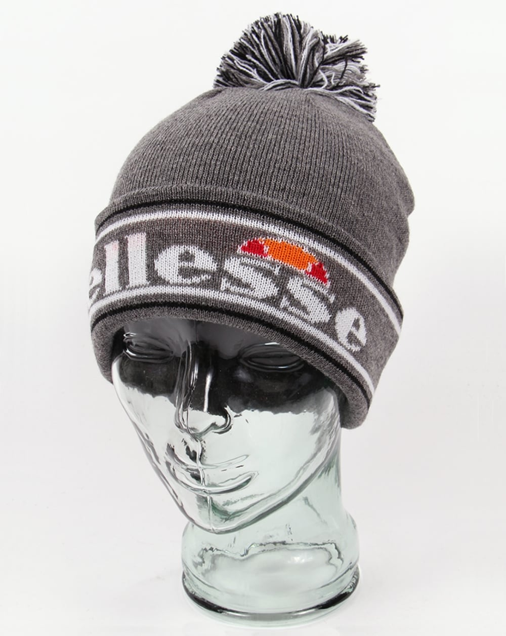 cf4ba641bf0c5d Ellesse Monza Beanie Grey,hat,wool,pom pom,winter