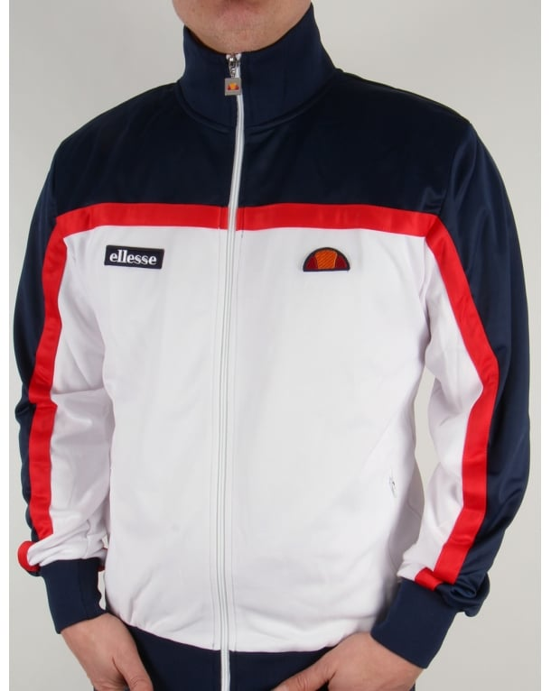 Ellesse Moresco Track Top White/navy/red