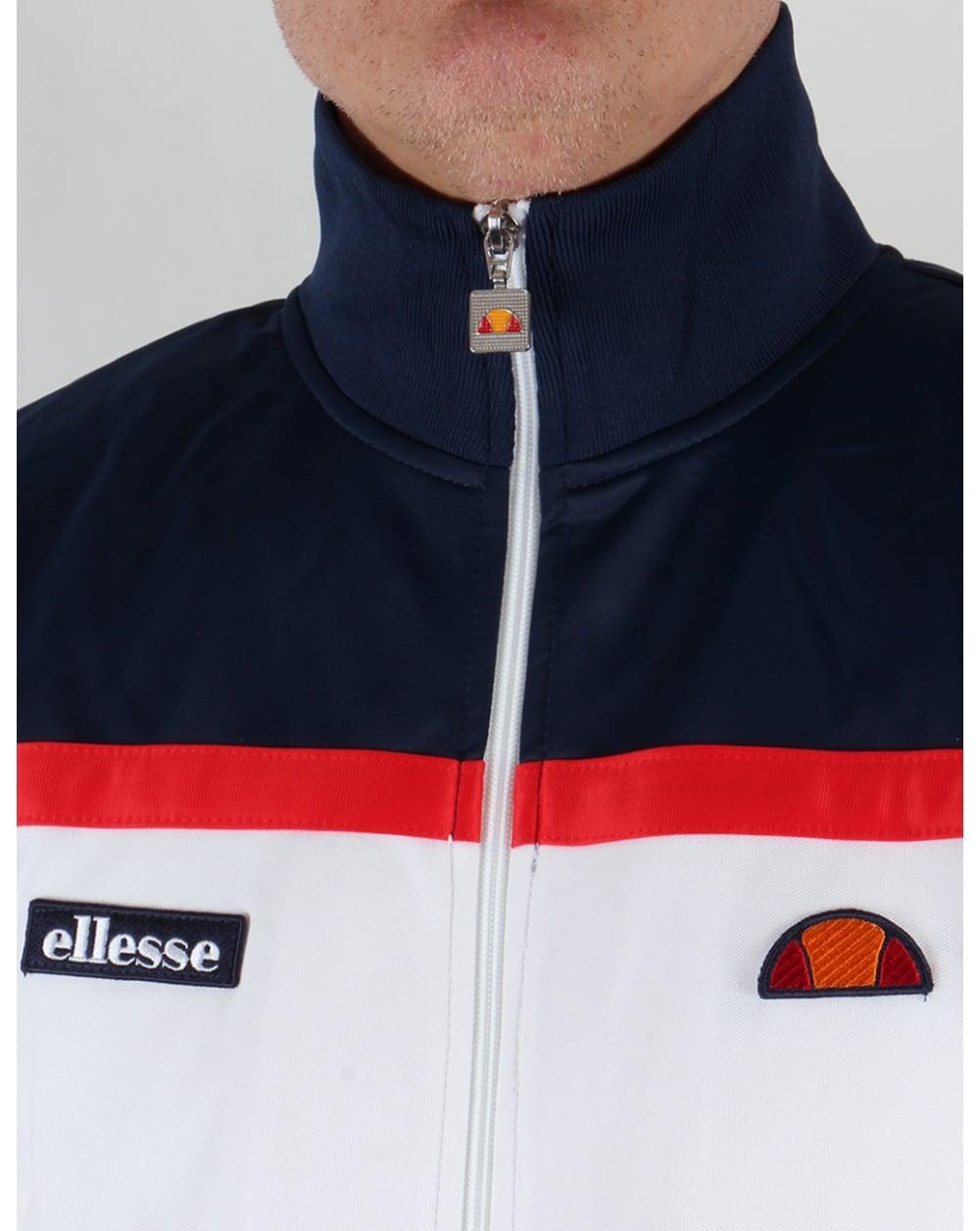 7593cd1c55 Ellesse Moresco Track Top White/navy/red
