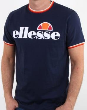 Ellesse Multi Ringer T Shirt Navy