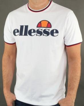 Ellesse Multi Ringer T Shirt White