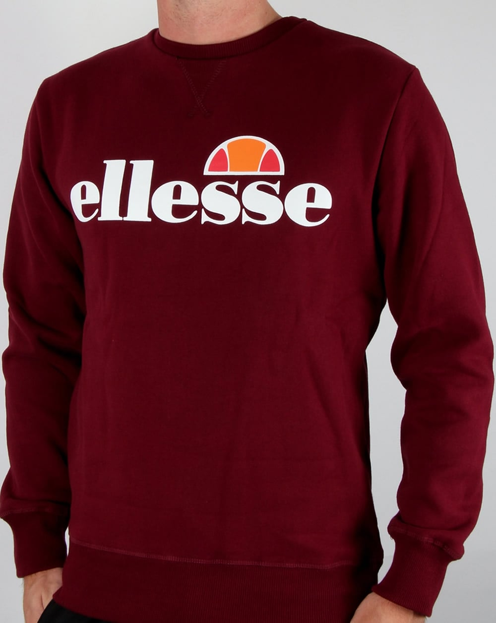 bb5b9ad6ad Ellesse New Logo Sweatshirt Burgundy