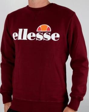 Ellesse New Logo Sweatshirt Burgundy
