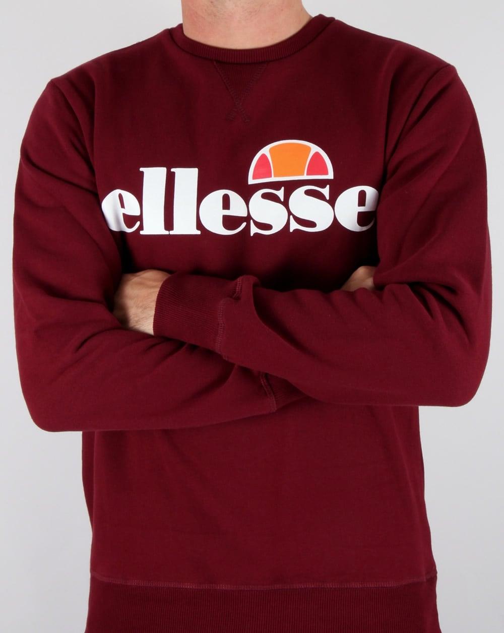 51559f73 Ellesse New Logo Sweatshirt Burgundy