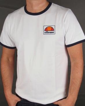 Ellesse New Ringer T-shirt White