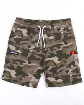 Ellesse Noli Fleece Shorts Camo