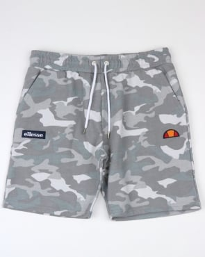 Ellesse Noli Fleece Shorts Grey Camo