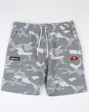 Ellesse Noli Fleece Shorts Grey Camo