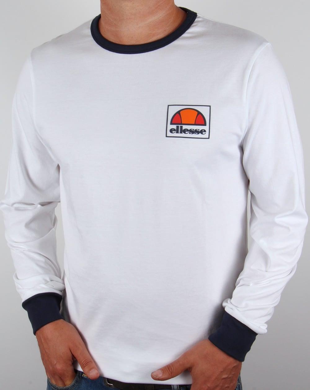 d003e92a Ellesse Old Skool Long Sleeve Ringer T-shirt White,tee,football,mens