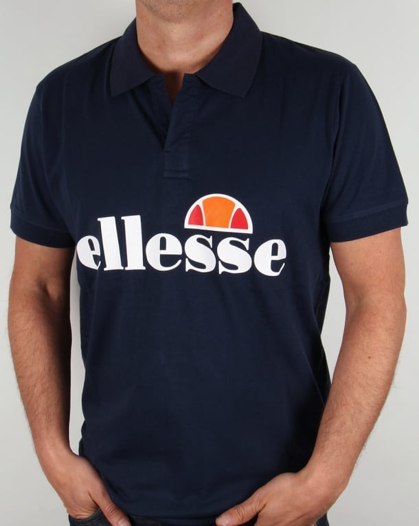 Ellesse Open Neck Polo Shirt Navy