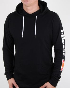 Ellesse Oratoria Hooded Long Sleeve T Shirt Black
