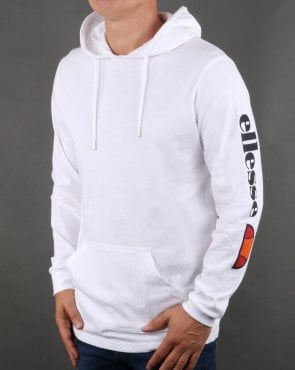 Ellesse Oratoria Hooded Long Sleeve T Shirt White