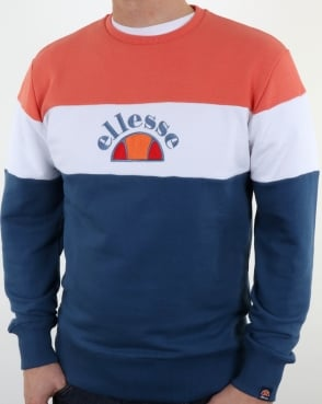 Ellesse Oriveto Sweatshirt Ensign Blue/White/Peach