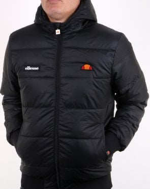Ellesse Padded Bomber Jacket Black