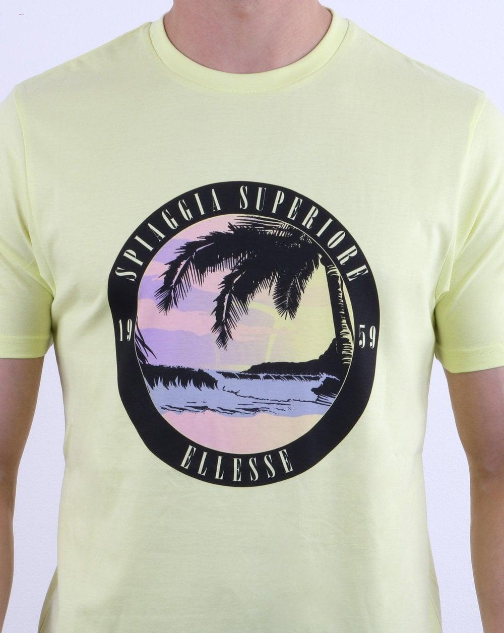744b0e2b Ellesse Palm T Shirt Light Yellow