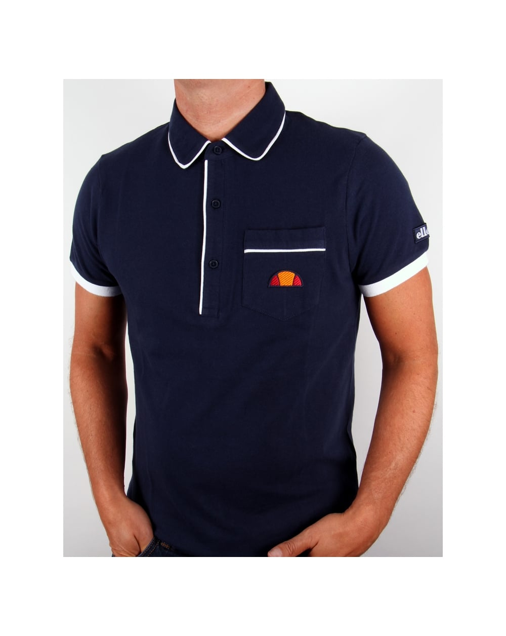 3b2519631d1 Ellesse Parma Polo Shirt Navy - Polo Shirts from 80s Casual Classics UK